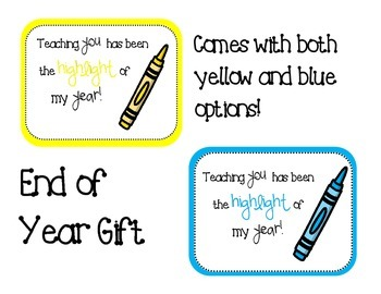 End of Year Highlighter Gift