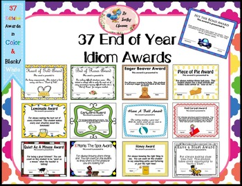 End of Year Awards - End of the Year Awards - Idioms