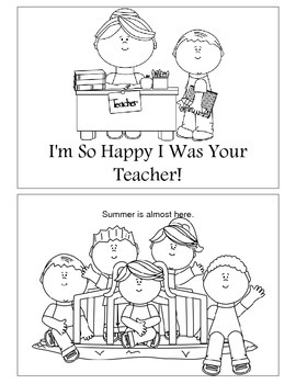 End of Year - I'm Glad I Was Your Teacher Booklet