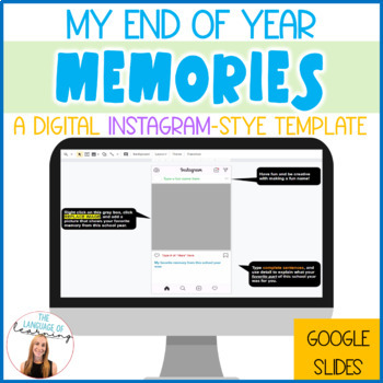 End of Year Activity - Instagram Memory Book! *End the year with Instragram fun*