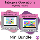 End of Year Summer Integers Operations Mystery Pictures Ac
