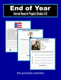 End of Year Internet Research Projects (Grades 5-8) - Distance Learning