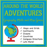 Around the World Adventures: Geography, Math and Maps Games