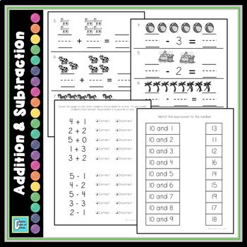 Kindergarten Math Tests
