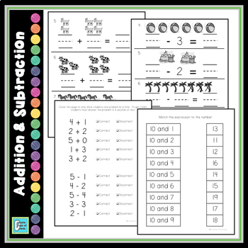 kindergarten math tests by a double dose of dowda tpt. Black Bedroom Furniture Sets. Home Design Ideas