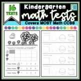 Kindergarten Math Assessments - 16 Tests
