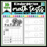 Kindergarten Math Assessments with 16 Tests