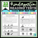 Kindergarten Reading Assessments with 22 Tests