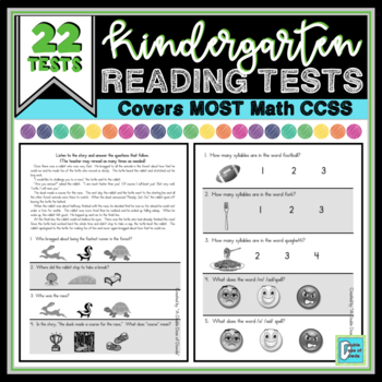 Common Core Reading Assessment - Kindergarten