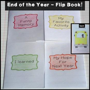 End of Year Kindergarten Flipbook