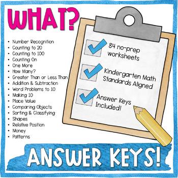 End of Year Kindergarten Math Review