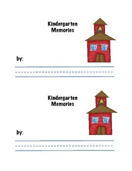 End of Year Kindergarten Memories Booklet