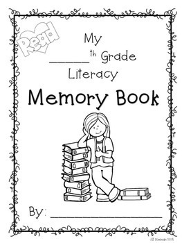 End of Year LITERACY Memory Book