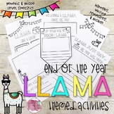 End of Year LLAMA Themed Activities