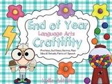 End of Year Language Arts Craftivity Bundle
