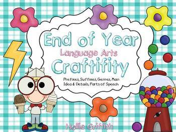 End of the Year Language Arts Craft Bundle