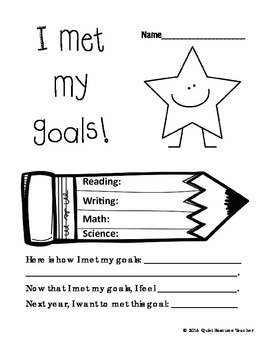 End of Year Learning Goals Reflection