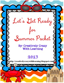 End of Year- Let's Get Ready for Summer ELA and Math Packet & Beach Ball Glyph
