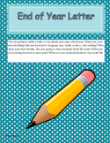 End of Year Letter