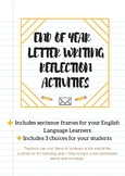 End of Year Letter Writing Reflection Activities with ESL/