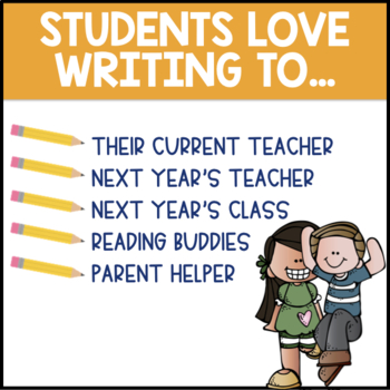 End Of Year Letter Writing Templates 2nd Grade By A