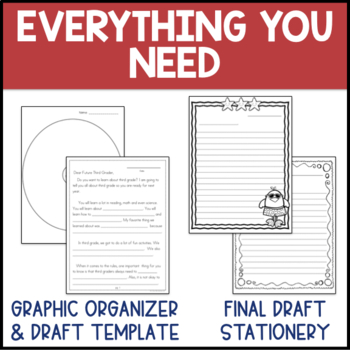 End of Year Letter Writing Templates {3rd Grade}