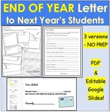 End of Year Letter to Next Year's Students, Future Students | Distance Learning