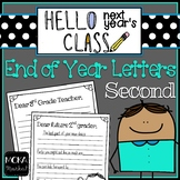 End of Year Letter to Next Year's Students and Next Year's Teacher (2nd Grade)