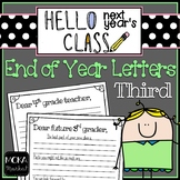 End of Year Letter to Next Year's Students and Next Year's Teacher (3rd Grade)