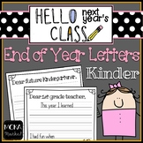 End of Year Letter to Next Year's Students and Next Year's Teacher (Kinder)