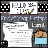 End of Year Letter to Next Year's Students and Next Year's Teacher (First Grade)