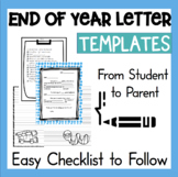 End of Year Letter to Parents 1st 2nd 3rd grade Writing Activity *common core*