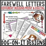 End of Year Letter from Teacher to Students and Parents Editable Print Digital
