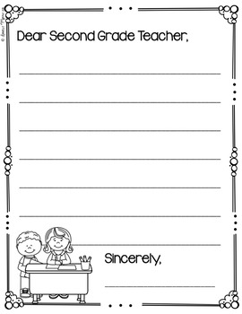 End of Year Letters (Kindergarten, First, Second Grade)