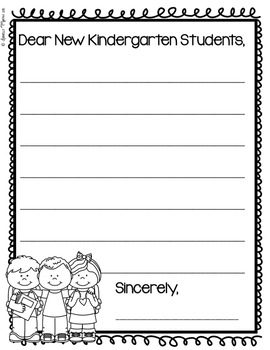 End of Year Letters for Kindergarten First Second Grade