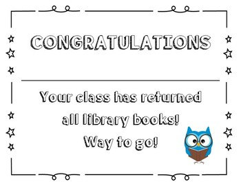 End of Year Library - All books have been returned