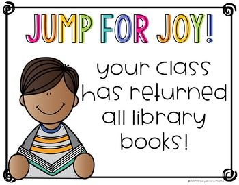 End of Year Library Book Return Awards {FREEBIE}