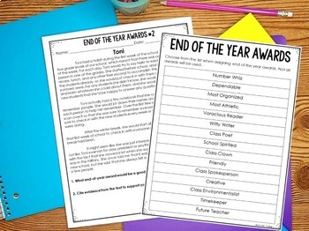 End of Year Activities for Literacy with Google Slides™ for Distance Learning