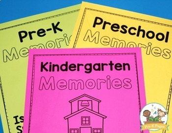 End of Year MEMORY BOOK for Preschool