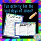 End of Year Mad Libs