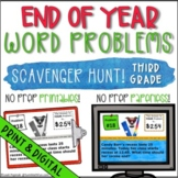 End of the Year Activities: Third Grade Math Word Problems Scavenger Hunt