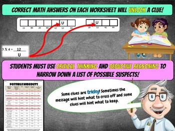 4th Grade End of the Year Math Review: Graduation Gremlins Math Mystery