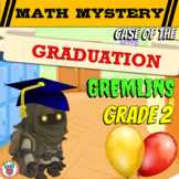 End of the Year Activity 2nd Grade Graduation Mystery - End of Year Math Review
