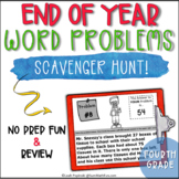 End of the Year Activities: Fourth Grade Math Word Problems Scavenger Hunt