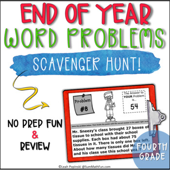 End of The Year Activities-Fourth Grade Solve the Room Mul