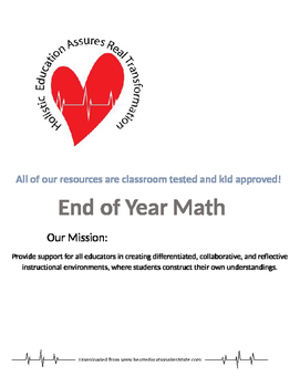 End of Year Math Activities