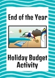 End of Year Math Activities: Holiday Budgeting