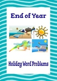 End of Year Math Activities: Holiday Word Problems