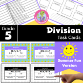 End of Year Activities for 5th Grade - Math Task Cards - Division