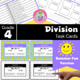 End of Year Activities for 4th Grade - Math Task Cards - Division